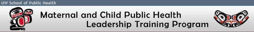 Maternal and Child Public Health Leadership Training Program Banner